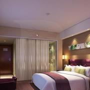 140平米简约酒店卧室室内设计装修效果图