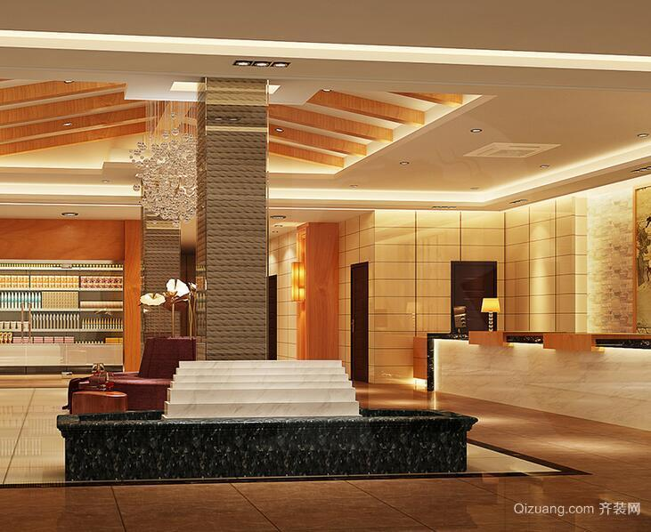 120平米简约风格酒店吊顶装修设计效果图鉴赏