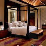 60平米简约风格酒店卧室背景墙装修效果图