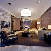别墅型客厅华丽吊灯装修效果