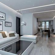 现代简约时尚客厅装修效果图