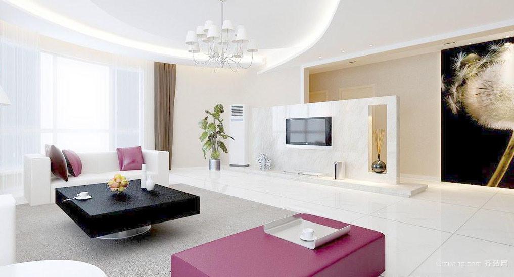 后现代风格简约时尚大客厅装修效果图