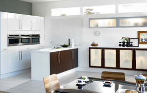 精致简约大户型开放式厨房装修效果图