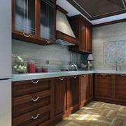 现代中式风格厨房效果图