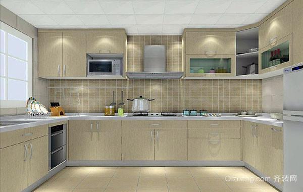 小户型精致开放式厨房装修效果图