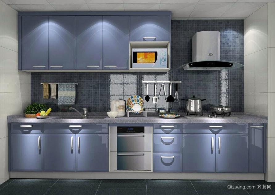 小户型也能拥有的时尚简约厨房整体效果图