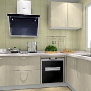 现代田园风格独立型厨房装修效果图