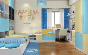 儿童房榻榻米床装修图