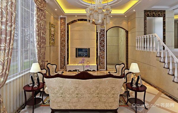 欧式皇家别墅客厅装修效果图赏析