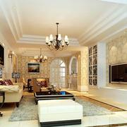 现代简欧风格客厅效果图
