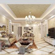 简欧风格精致客厅装修效果图