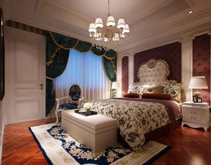 欧式风格精致卧室背景墙装修效果图