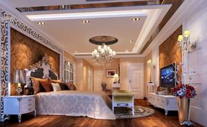 欧式皇家般的奢华卧室装戏效果图