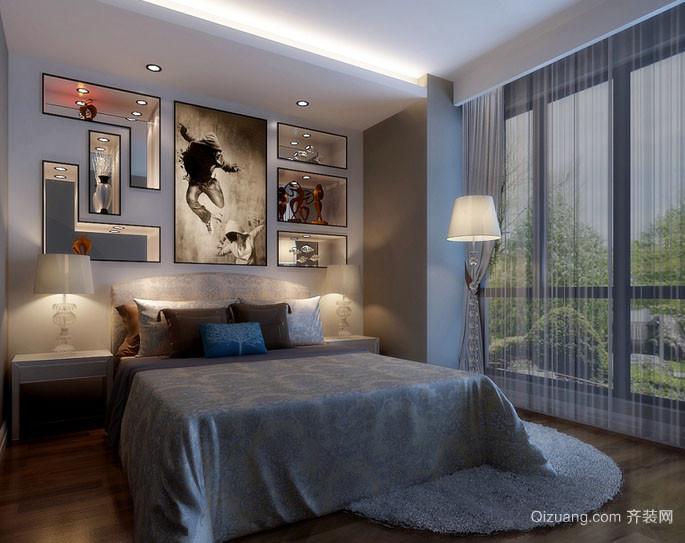 后现代极简主义卧室装修效果图