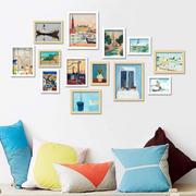 简约时尚照片墙效果图