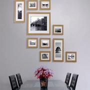 三居室简约时尚餐厅照片墙装修效果图