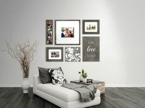 一居室创意十足的客厅照片墙效果图