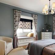 温馨卧室飘窗效果图