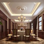 90平米大户型简约风格餐厅吊顶设计装修效果图