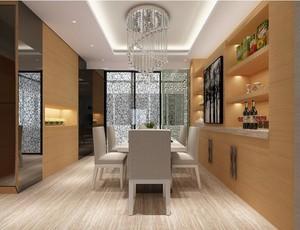 200平米简约风格餐厅背景墙装修效果图欣赏