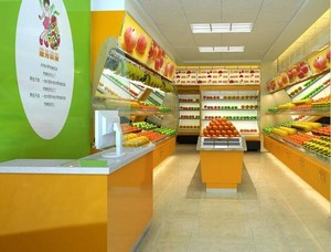 30平米简约水果店室内设计装修设计效果图