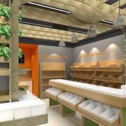 60平米简约时尚水果店背景墙装修效果图