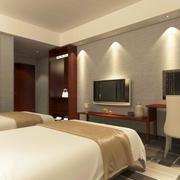 30平米简约宾馆室内装修设计效果图