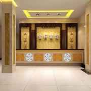 60平米精致简约宾馆大厅吊顶装修效果图欣赏