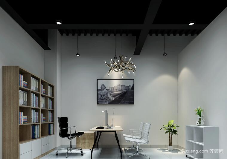 混搭风格30平米办公室装修效果图欣赏