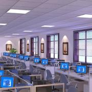 140平米混搭办公室室内飘窗设计装修效果图