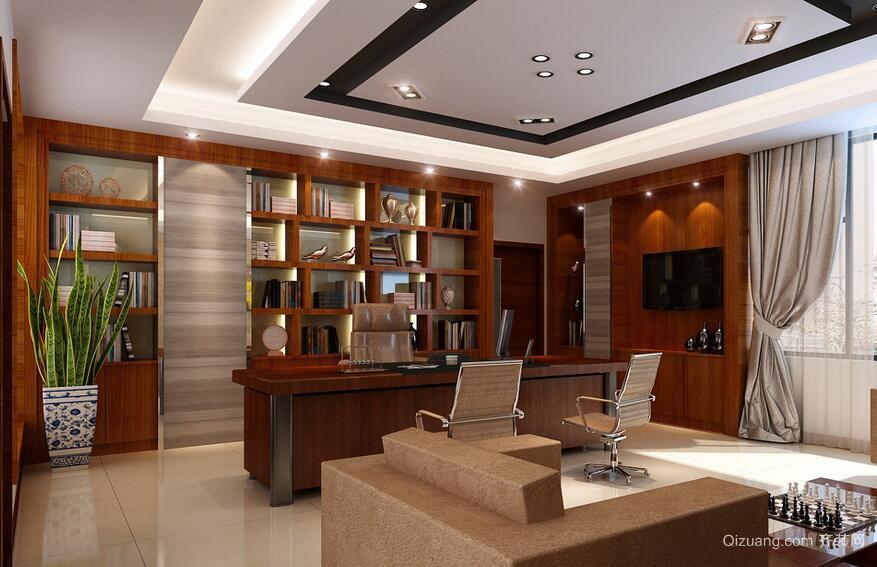 200平米混搭办公室室内吊顶装修设计效果图