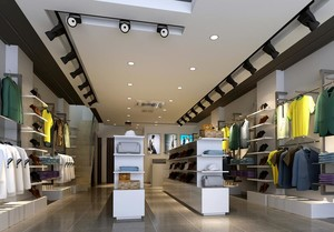 120平米混搭风格服装店室内吊顶装修效果图