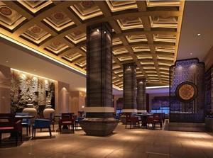 60平米独特的混搭酒店背景墙装修效果图