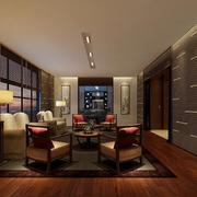 90平米混搭酒店飘窗装修设计效果图