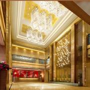 120平米混搭酒店吊顶装修设计效果图