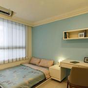 现代简约自然风格卧室效果图