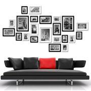 时尚定点客厅照片墙效果图