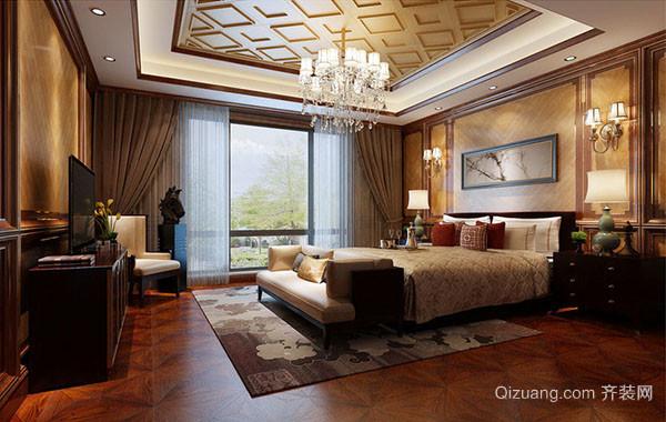 中式风格简约大气卧室装修效果图