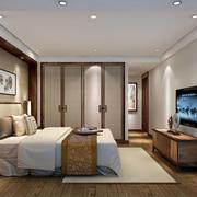 简约中式卧室效果图