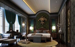 奢华欧式别墅卧室效果图