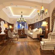美式别墅客厅整体设计