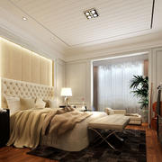 简约时尚卧室吊顶装修效果图