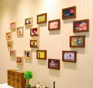 现代时尚简约风格照片墙装修效果图大全