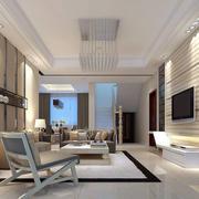 简约时尚别墅型客厅装修效果图