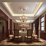 90平米混搭风格餐厅设计装修效果图