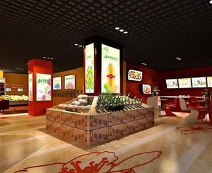 30平米混搭水果店室内装修效果图欣赏