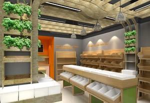 60平米混搭风格水果店室内设计装修效果图