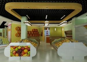 90平米混搭水果店室内装修效果图实例