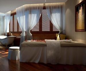 60平米美容院室内背景墙设计装修效果图
