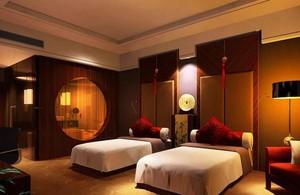 120平米混搭宾馆卧室隔断装修效果图欣赏